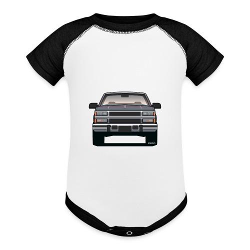 Design Icon: American Bowtie Silver Urban Truck - Baseball Baby Bodysuit