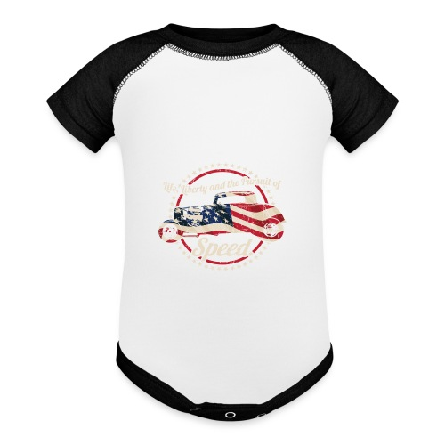 Life, Liberty and the Pursuit of Speed USA Hot Rod - Baseball Baby Bodysuit