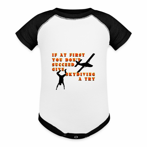 Try Skydiving - Baseball Baby Bodysuit