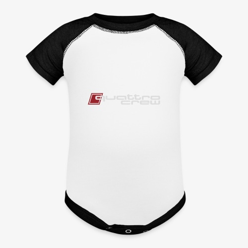 Quattro Crew - Light logo - Baseball Baby Bodysuit