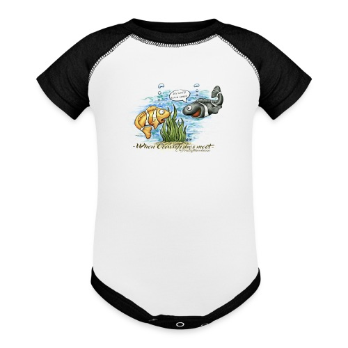 when clownfishes meet - Baseball Baby Bodysuit