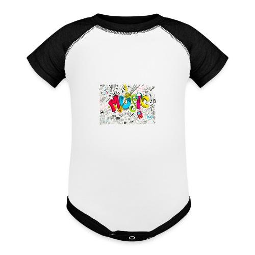 music banner - Baseball Baby Bodysuit