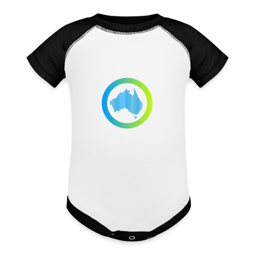 Gradient Symbol Only - Baseball Baby Bodysuit