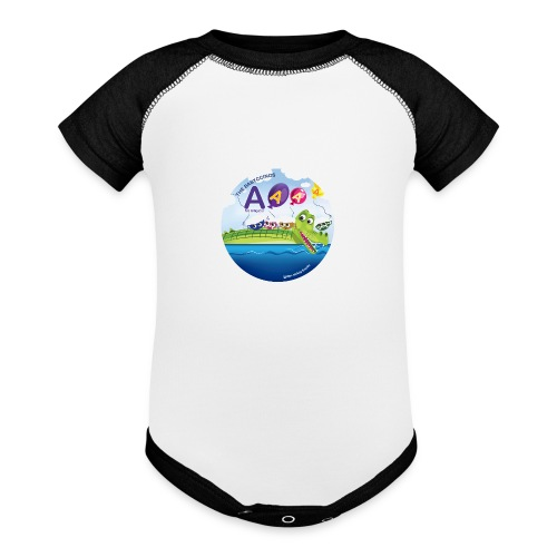 The Babyccinos The Letter A - Baseball Baby Bodysuit