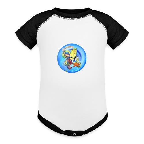 Cuddles clothes print. - Baseball Baby Bodysuit