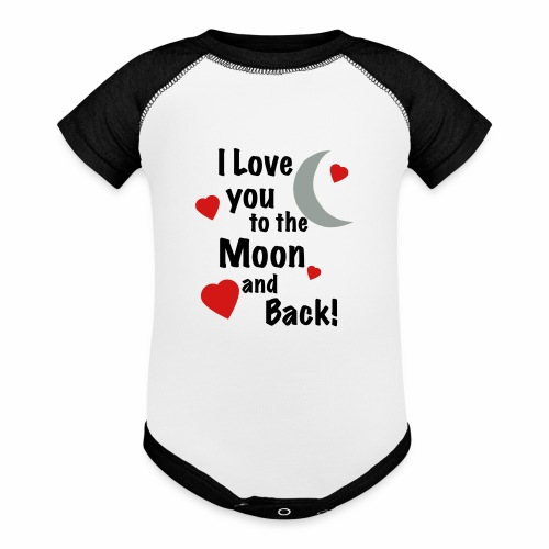 I Love You to the Moon and Back - Contrast Baby Bodysuit