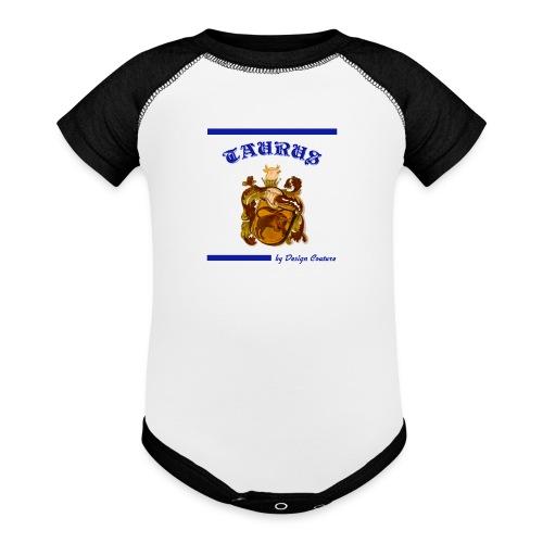 TAURUS BLUE - Contrast Baby Bodysuit
