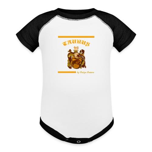 TAURUS ORANGE - Contrast Baby Bodysuit
