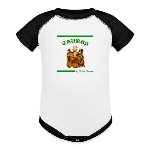 TAURUS GREEN - Contrast Baby Bodysuit