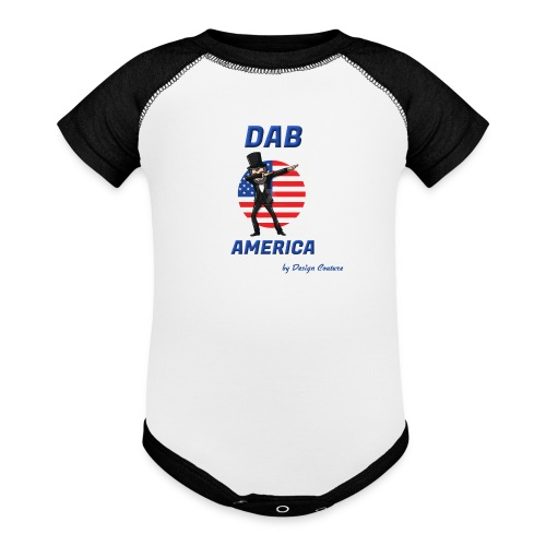 DAB AMERICA BLUE - Contrast Baby Bodysuit