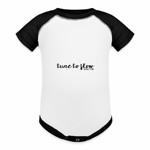 Tune to Flow - Design 1 - Baseball Baby Bodysuit