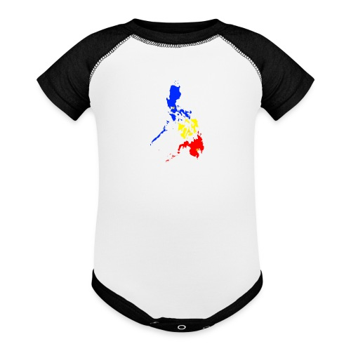 Philippines map art - Baseball Baby Bodysuit