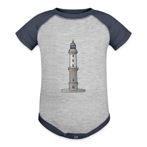 Lighthouse Warnemünde Rostock - Baseball Baby Bodysuit