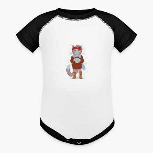 coco kitten - Contrast Baby Bodysuit
