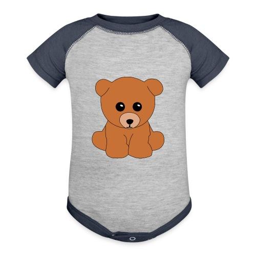 Teddy bear - Baseball Baby Bodysuit