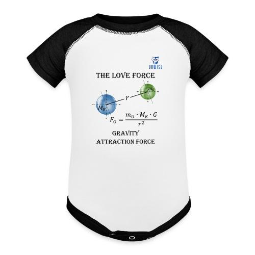 Newton Gravity MuMeG with UBWise logo - Baseball Baby Bodysuit