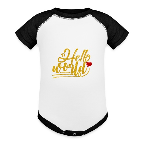 Baby Girl Clothes/Hello World/Home Outfit - Contrast Baby Bodysuit
