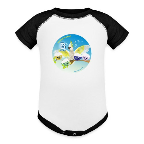 The Babyccinos Alphabet The Letter B - Baseball Baby Bodysuit