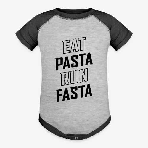 Eat Pasta Run Fasta v2 - Baseball Baby Bodysuit
