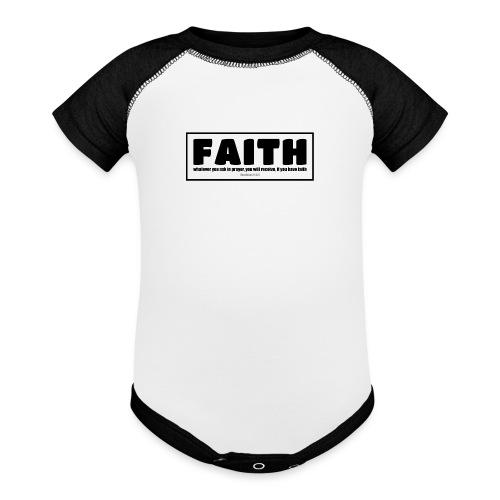 Faith - Faith, hope, and love - Baseball Baby Bodysuit