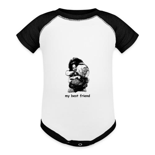 My best friend (girl) - Baseball Baby Bodysuit