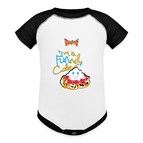 funnel cake with tie - Baseball Baby Bodysuit