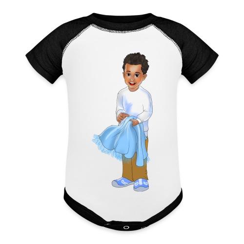 chandler j shelton LOGO BY Shelly Shelton - Baseball Baby Bodysuit