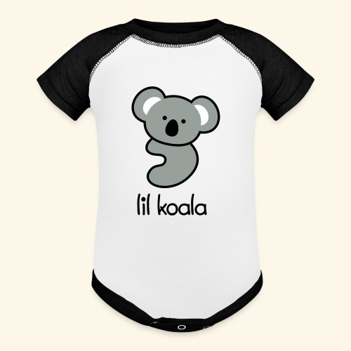 lil koala - Baseball Baby Bodysuit