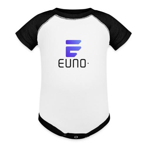 EUNO LOGO POTRAIT BLACK FONT - Baseball Baby Bodysuit