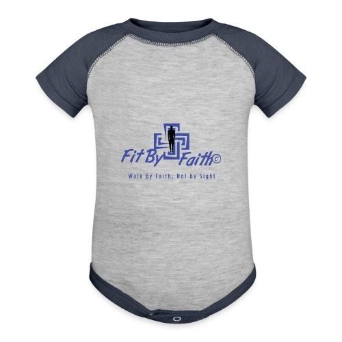 FitbyFaith back png - Baseball Baby Bodysuit