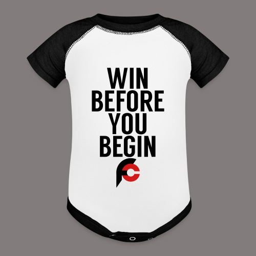 Win Before You Begin - Baseball Baby Bodysuit