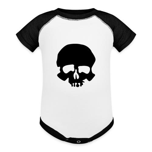 Black Skull - Baseball Baby Bodysuit