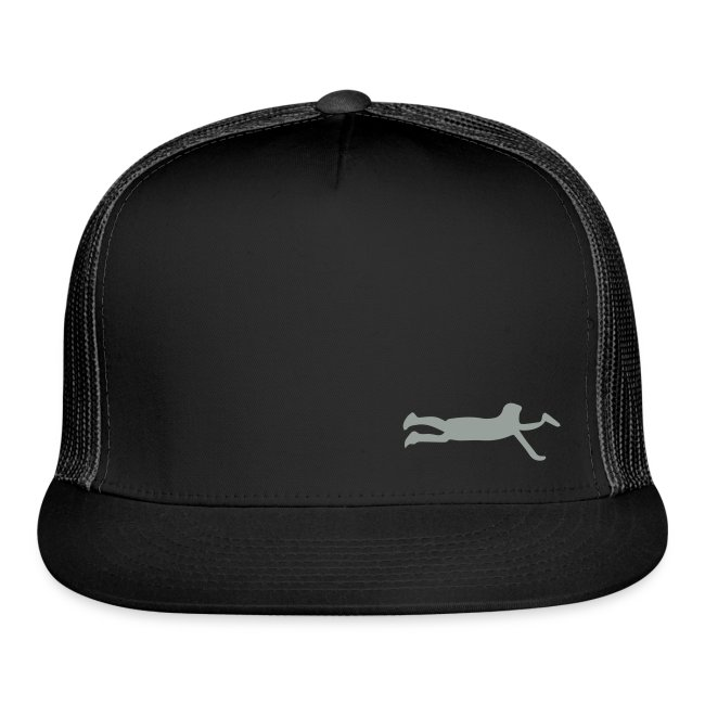 Ultimate Frisbee Hat: Layout Silhouette Hat