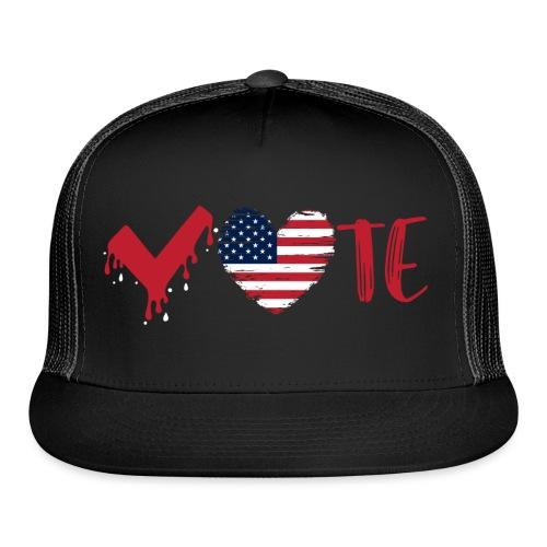 vote heart red - Trucker Cap