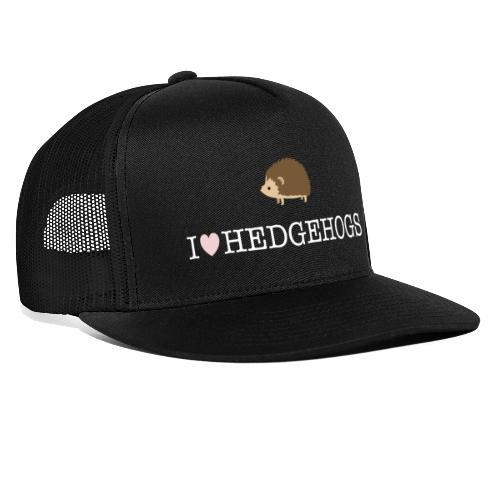 I Love Hedgehogs with Hedgehog Illustration - Trucker Cap