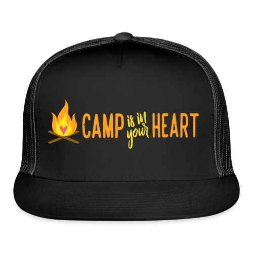 camp is in your heart full color - Trucker Cap