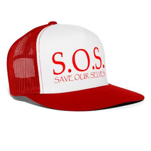 sos no emotion red - Trucker Cap