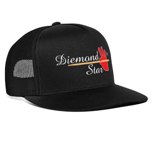 Diemond Star Logo White Font - Trucker Cap