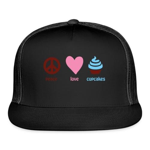peacelovecupcakes pixel - Trucker Cap