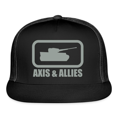 Tank Logo with Axis & Allies text - Multi-color - Trucker Cap
