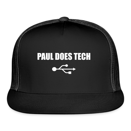 Paul Does Tech White Logo With USB - Trucker Cap