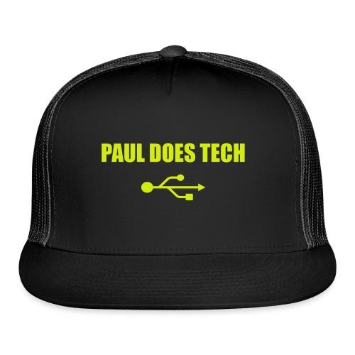 Paul Does Tech Yellow Logo With USB (MERCH) - Trucker Cap