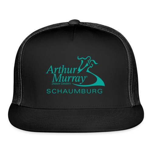 Arthur Murray Schaumburg Turquoise Logo - Trucker Cap