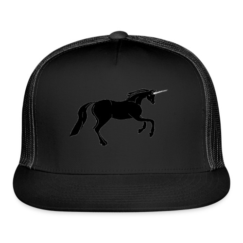 unicorn black - Trucker Cap