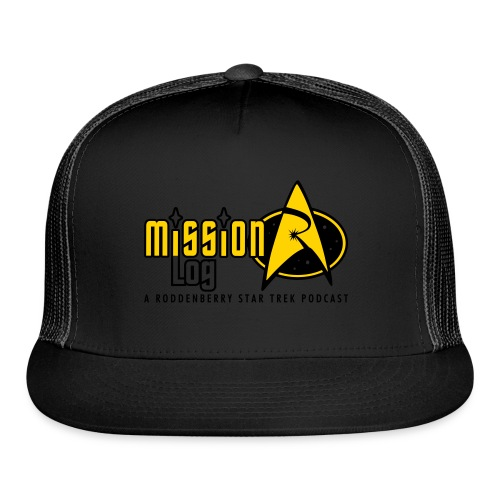 Logo Wide 2 Color Black Text - Trucker Cap