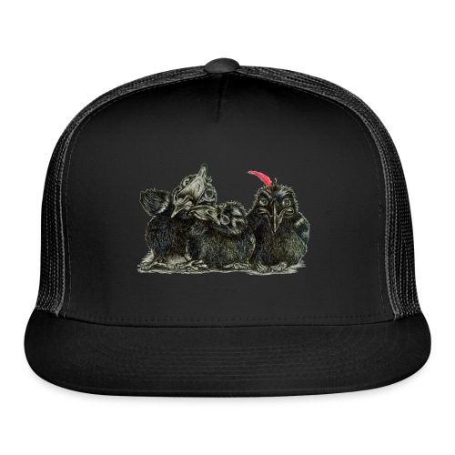 Three Young Crows - Trucker Cap