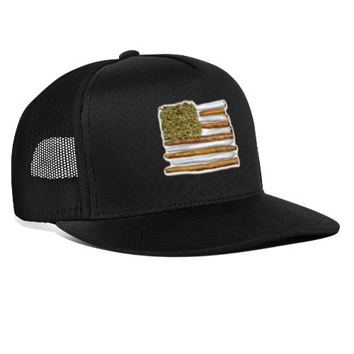 American Flag With Joint - Trucker Cap