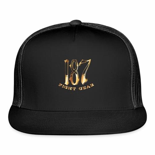 187 Fight Gear Gold Logo Street Wear - Trucker Cap
