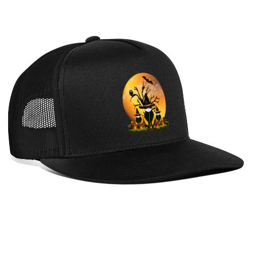 Happy Halloween with 3 masked cats - Trucker Cap