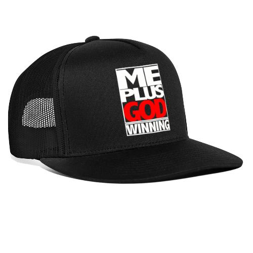 ME GOD WIN WHT - Trucker Cap